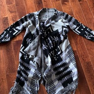 NEW Long Knit Fringe Cardigan